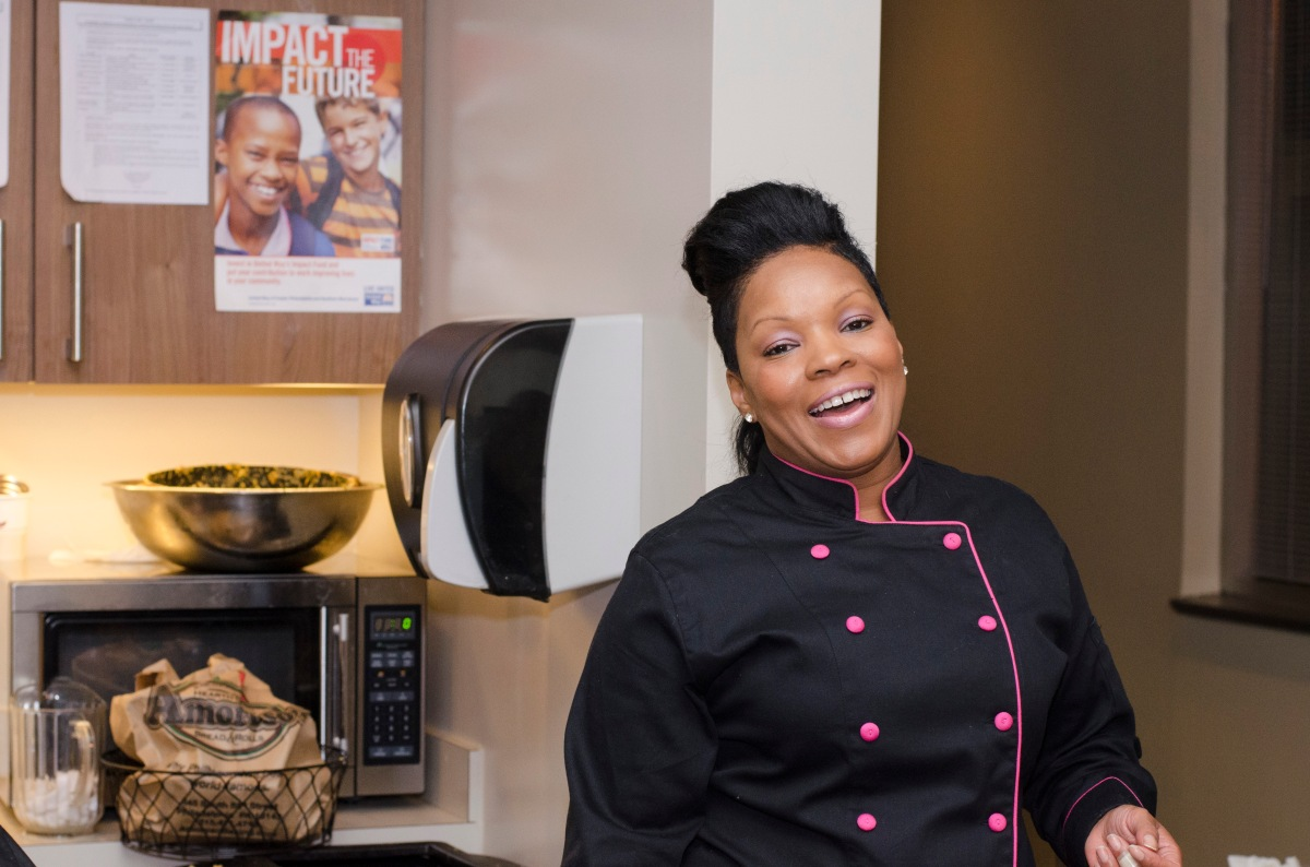Chef Naimah Caters her first major event. Read More...